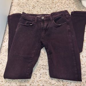 AE maroon jegging